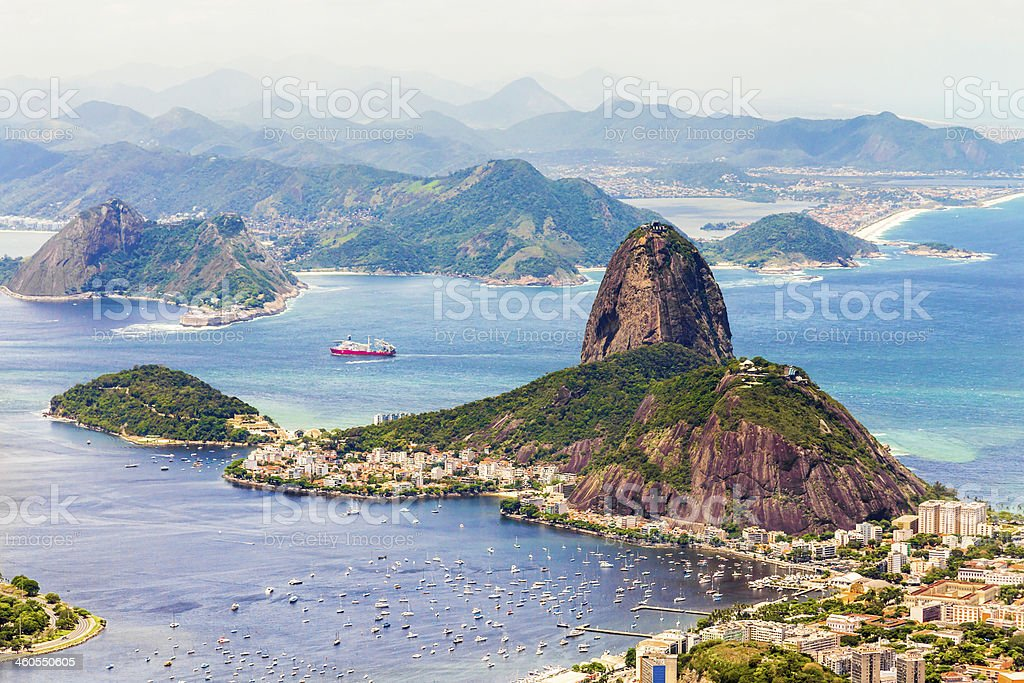 Rio de Janeiro with the Sugarloaf Mountain, Brazil stock photo
