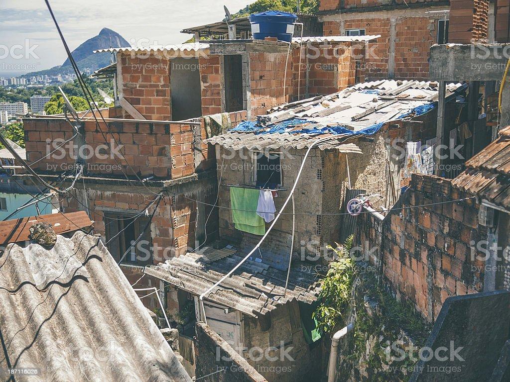 Rio De Janiero favela. royalty-free stock photo