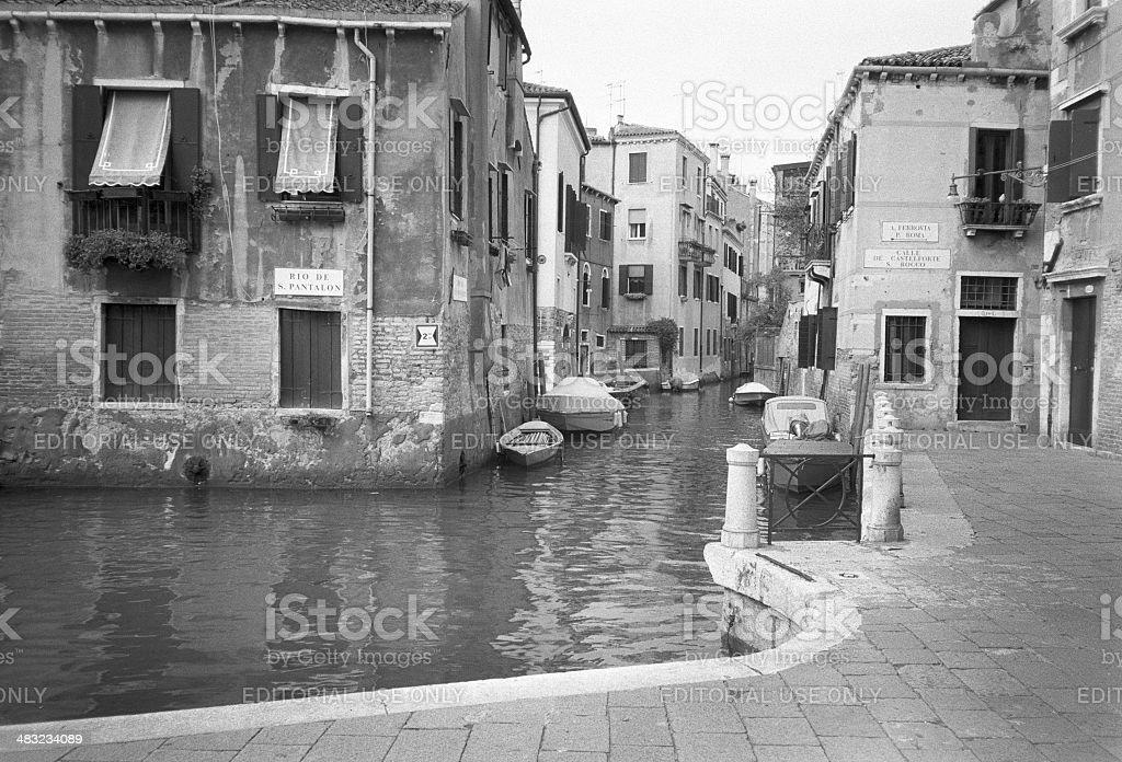 Rio de S. Pantalon, Venezia, Italy royalty-free stock photo