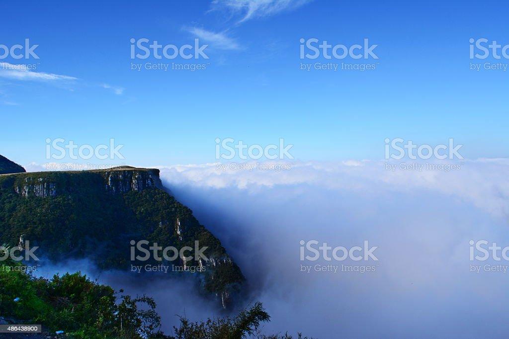 Rio do Rastro mountain landscape stock photo