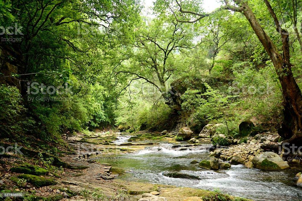 Rio Escanela in Queretaro Mexico stock photo