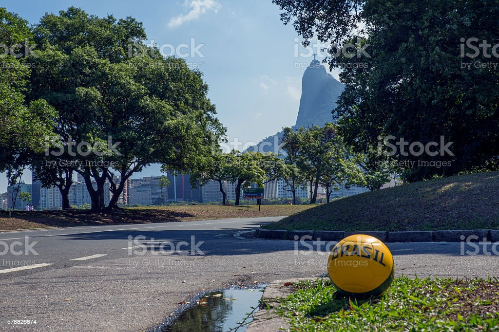 Rio Football Beach stock photo