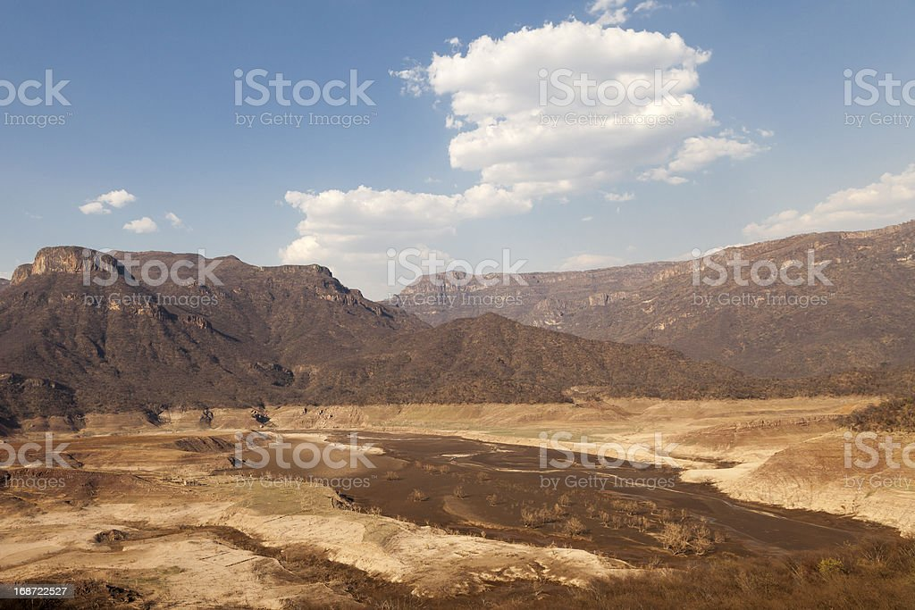 Rio Fuerte in the Copper canyon royalty-free stock photo