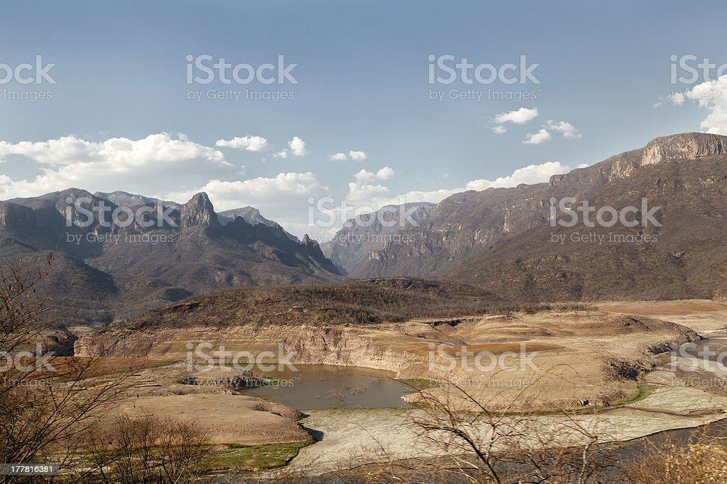Rio Fuerte in the Copper canyon stock photo