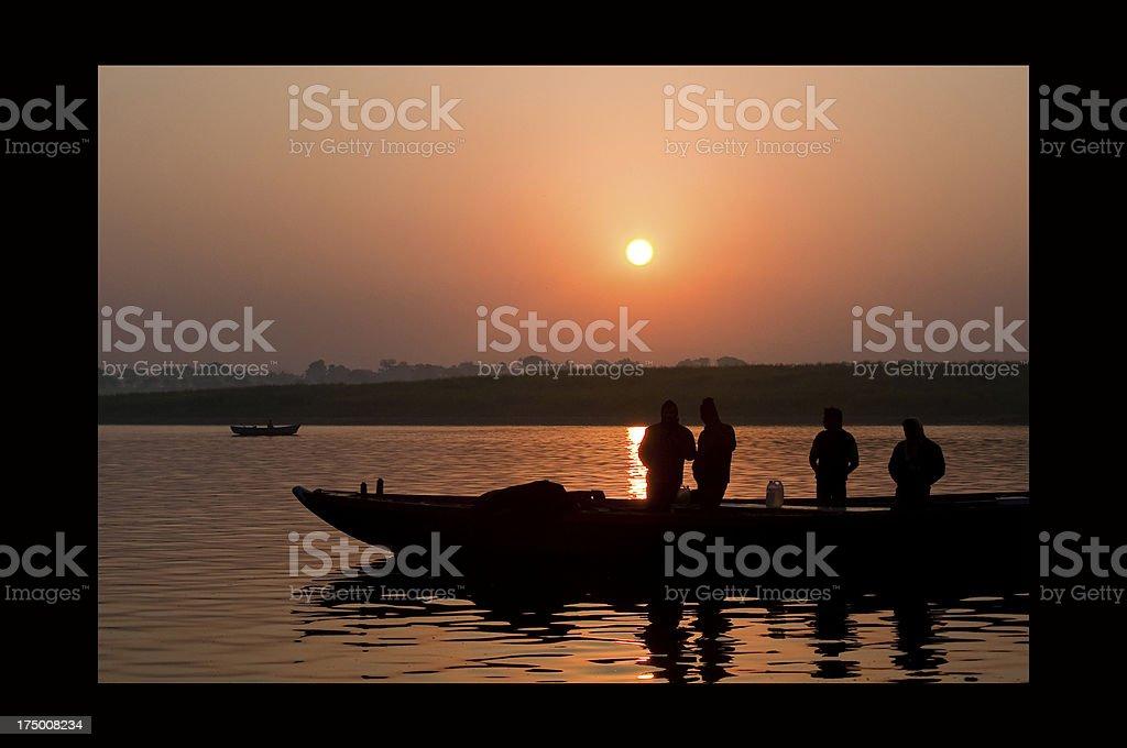 Rio Ganges royalty-free stock photo