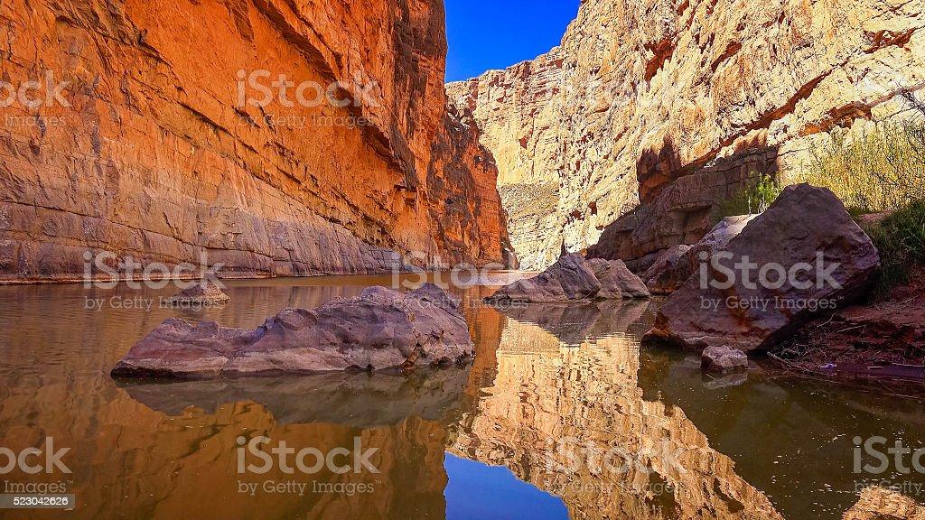 Rio Grande and Santa Elena Canyon, Big Bend National Park stock photo
