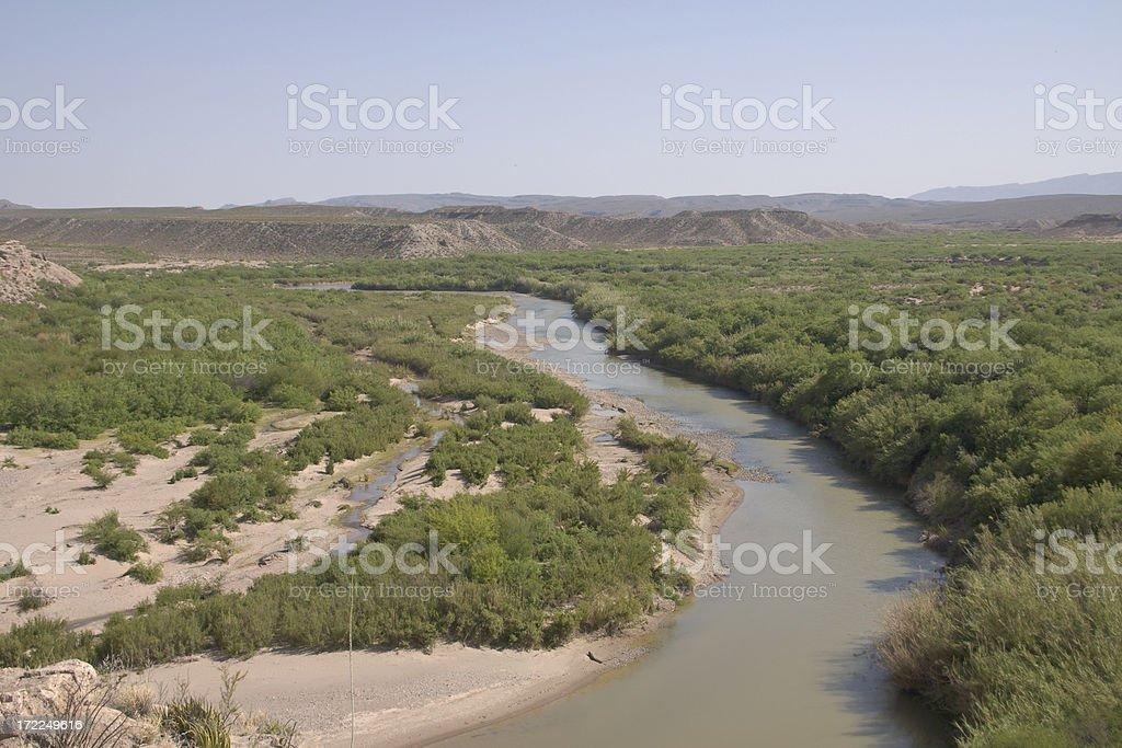 Rio Grande border royalty-free stock photo
