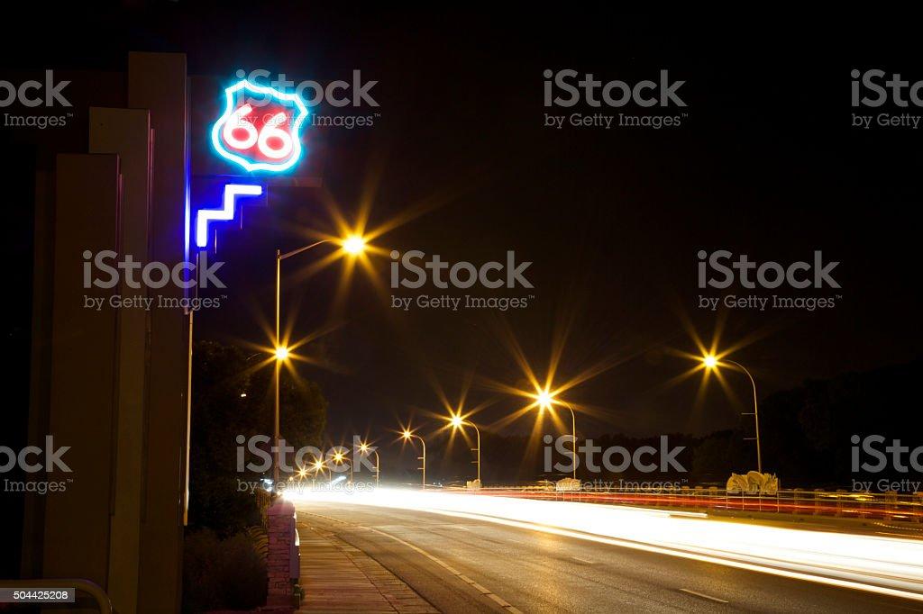 Rio Grande Bridge at Night One stock photo