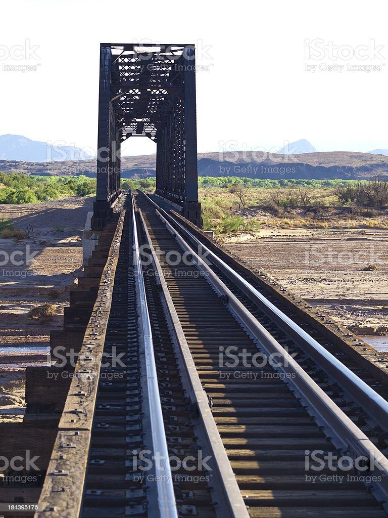 Rio Grande bridge royalty-free stock photo