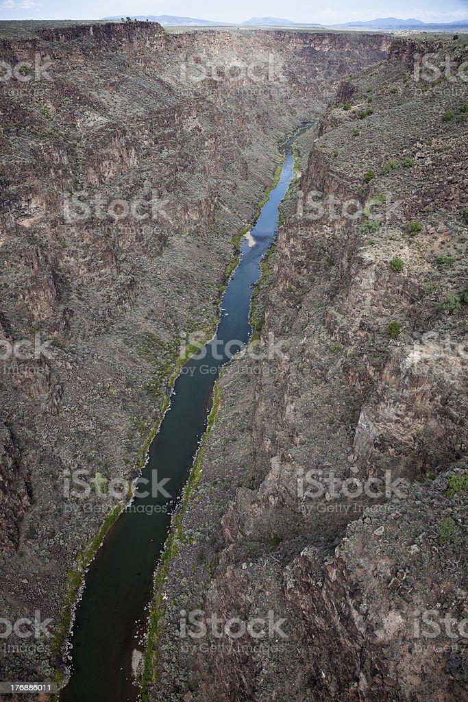 Rio Grande from Gorge Bridge royalty-free stock photo