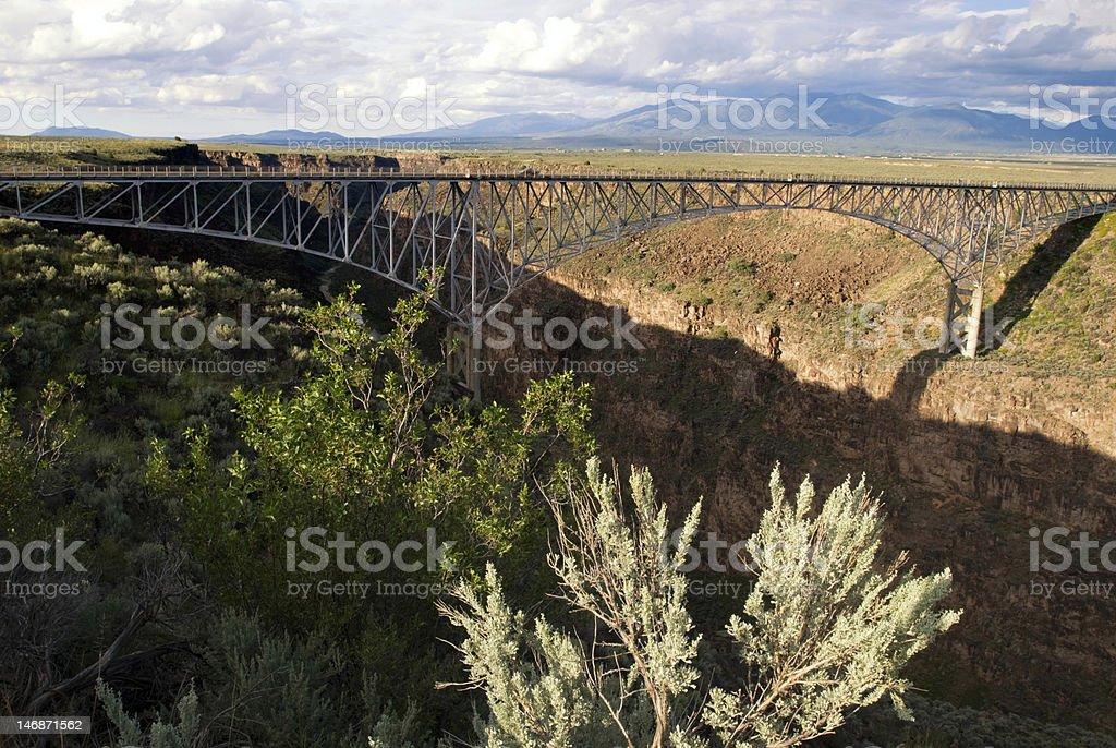 Rio Grande Gorge Bridge (US 64) Near Taos,NM royalty-free stock photo