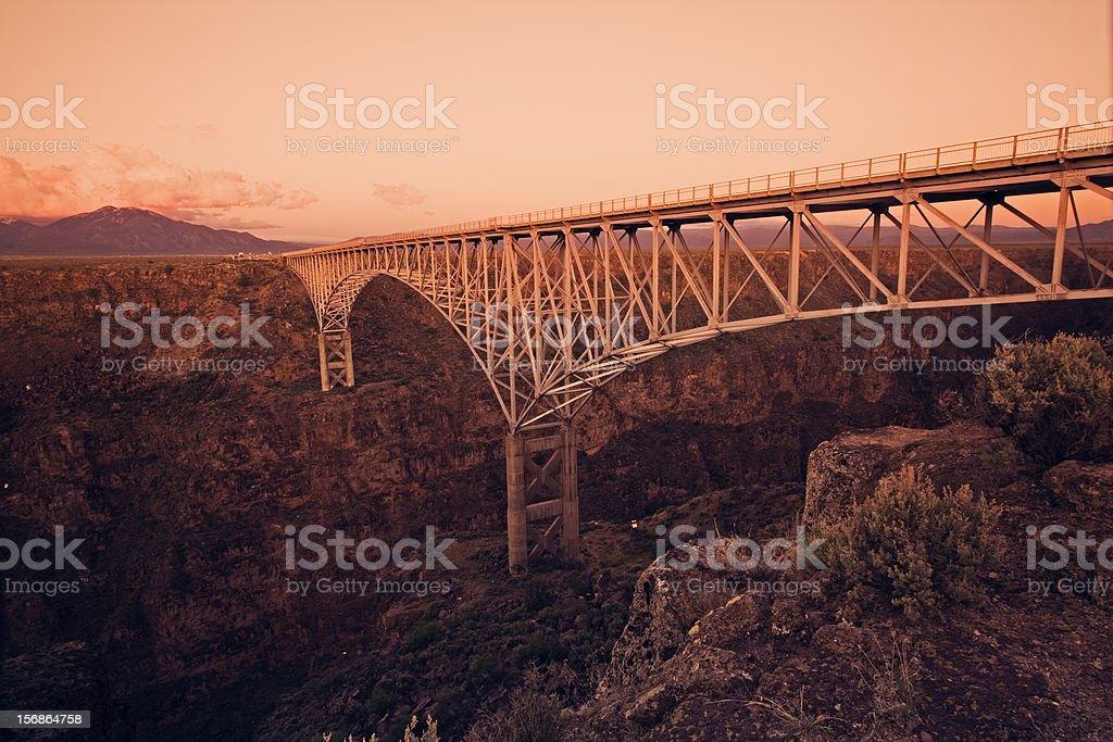 Rio Grande Gorge Bridge royalty-free stock photo