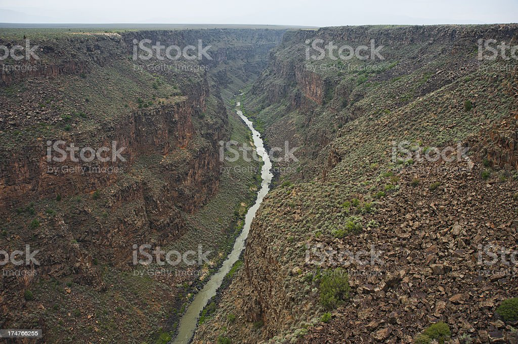 Rio Grande Gorge near Taos, New Mexico stock photo