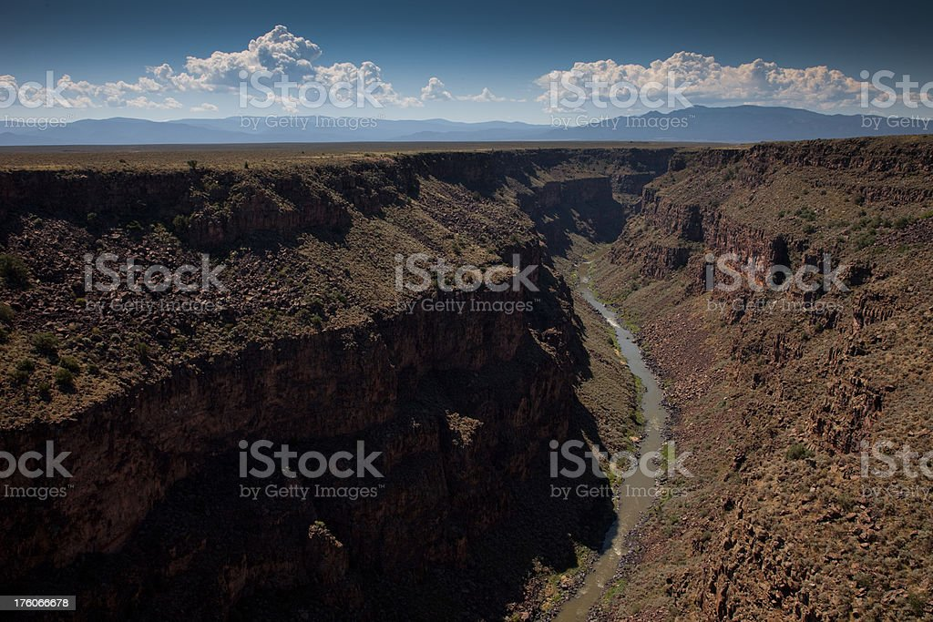 Rio Grande Gorge royalty-free stock photo