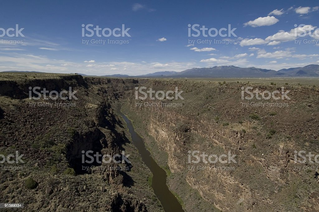 Rio Grande Gorge (Horizontal) stock photo