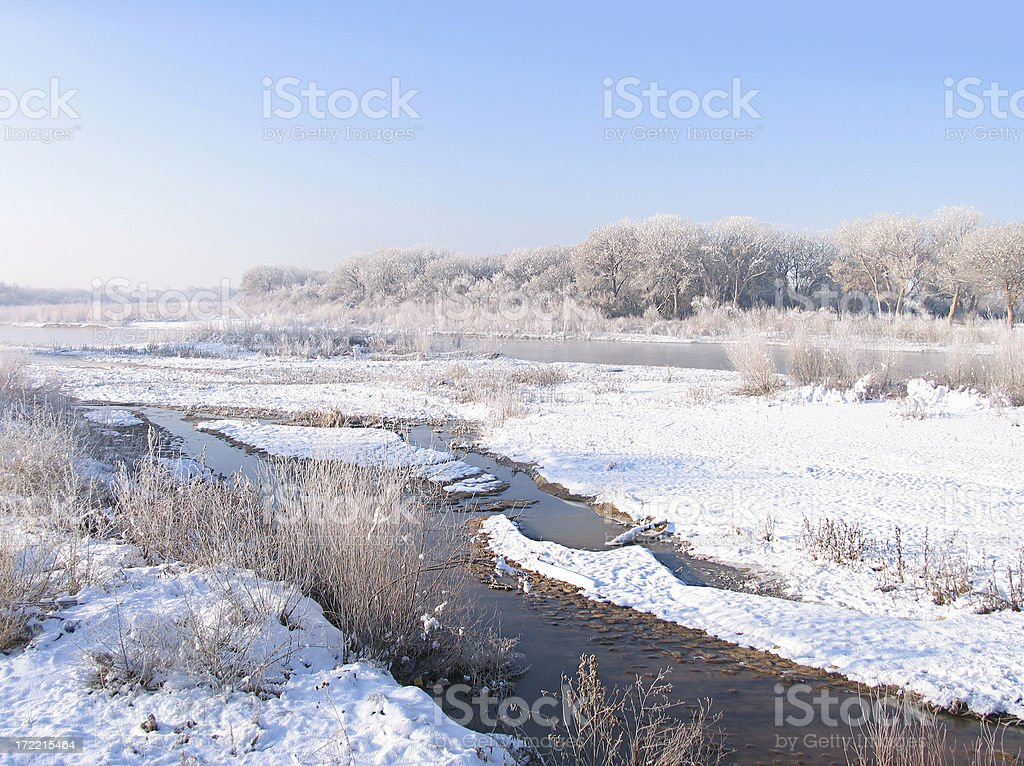 Rio Grande in Winter stock photo