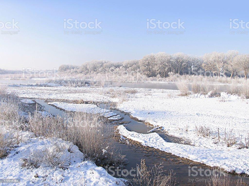 Rio Grande in Winter stock photo