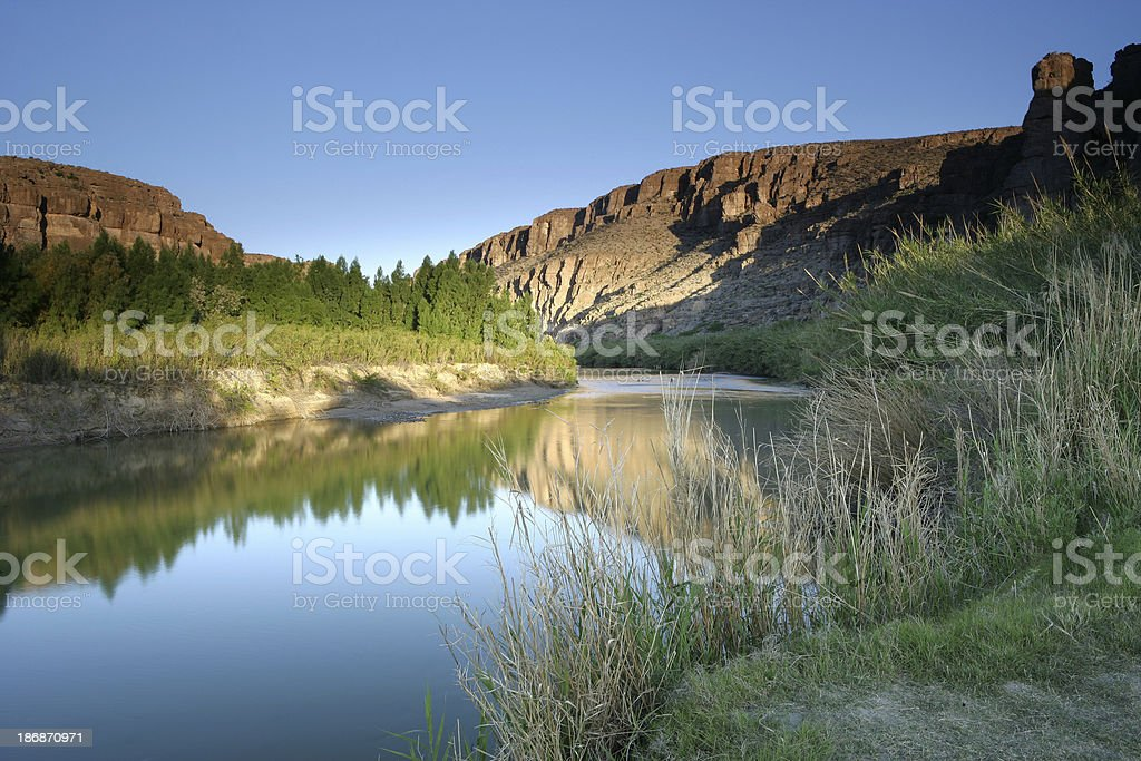 Rio Grande Morning stock photo