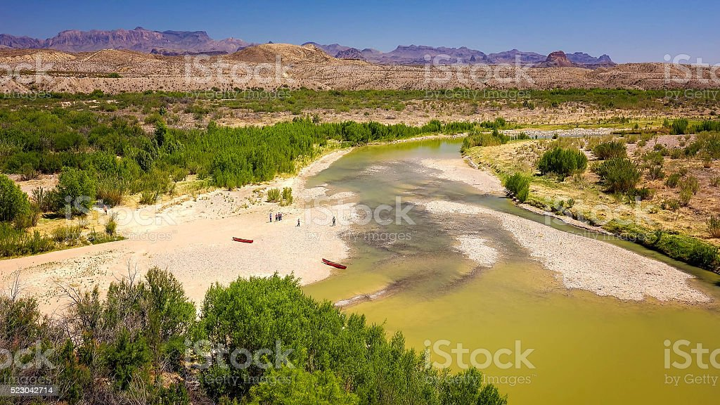 Rio Grande River at Big Bend National Park stock photo