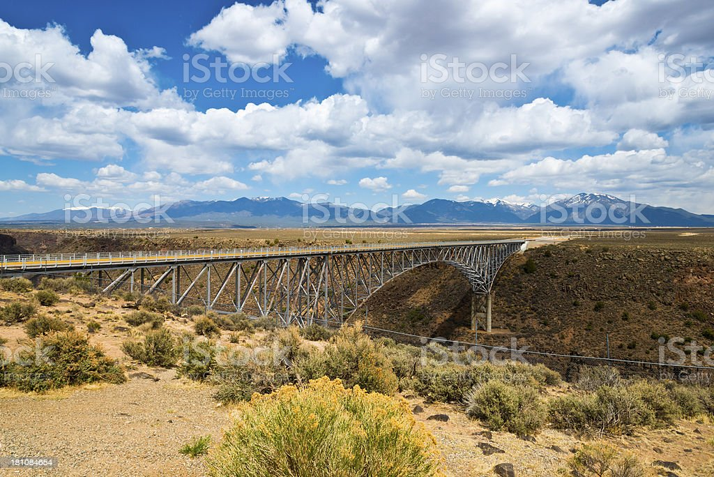 Rio Grande River Gorge Bridge stock photo