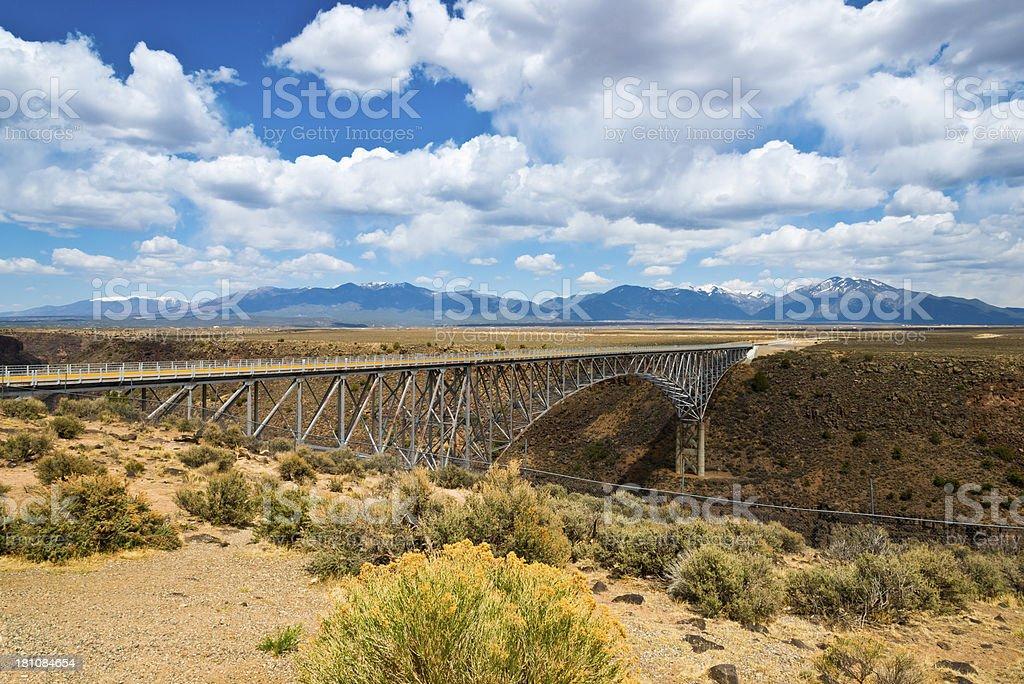 Rio Grande River Gorge Bridge stock photo