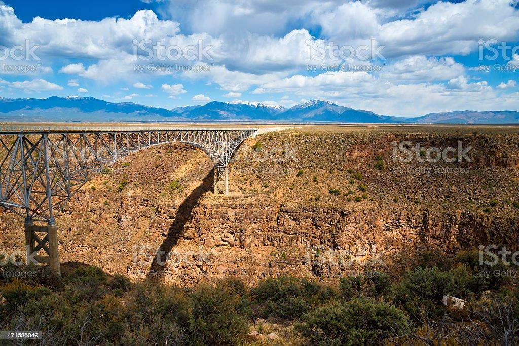 Rio Grande River Gorge Bridge royalty-free stock photo