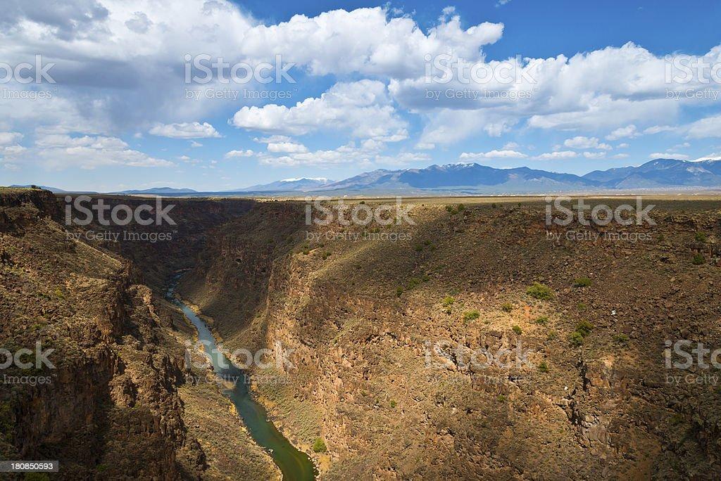Rio Grande River Gorge stock photo