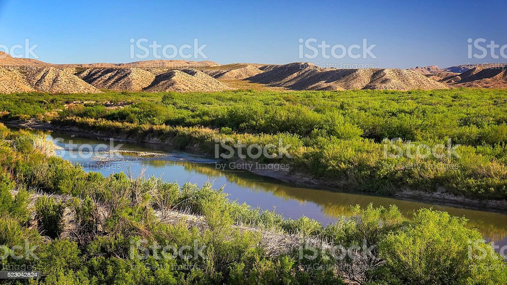 Rio Grande River in Big Bend National Park stock photo