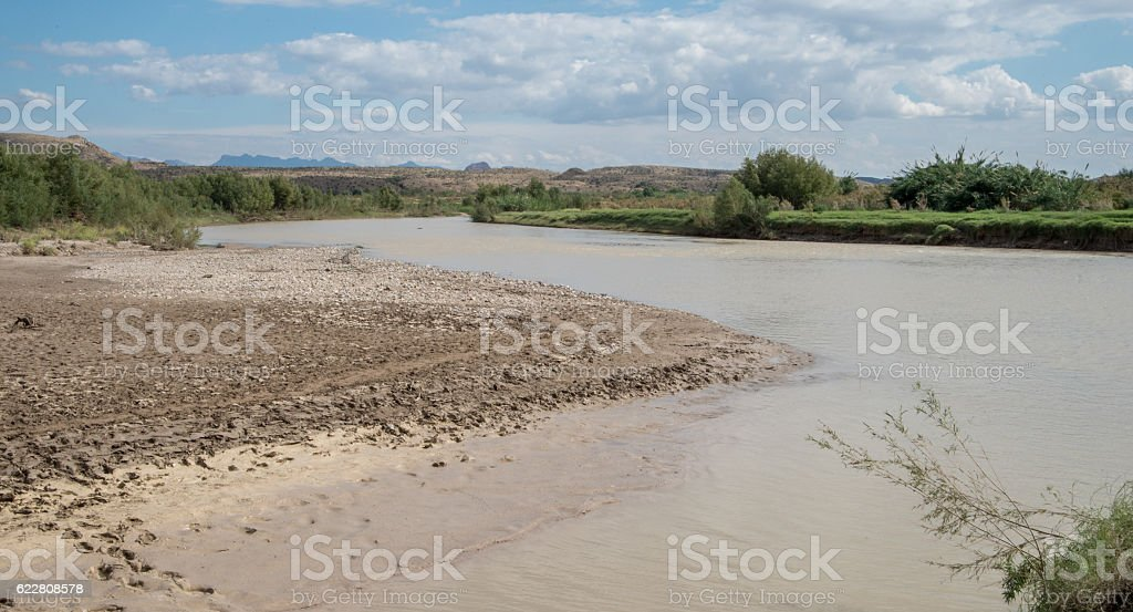 Rio Grande River stock photo
