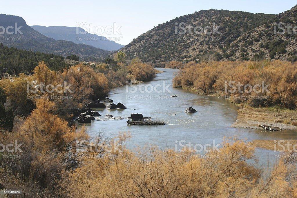 rio grande river, taos, new mexico royalty-free stock photo