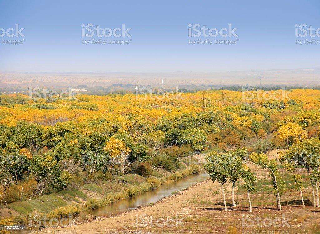Rio Grande Valley, Autumn stock photo