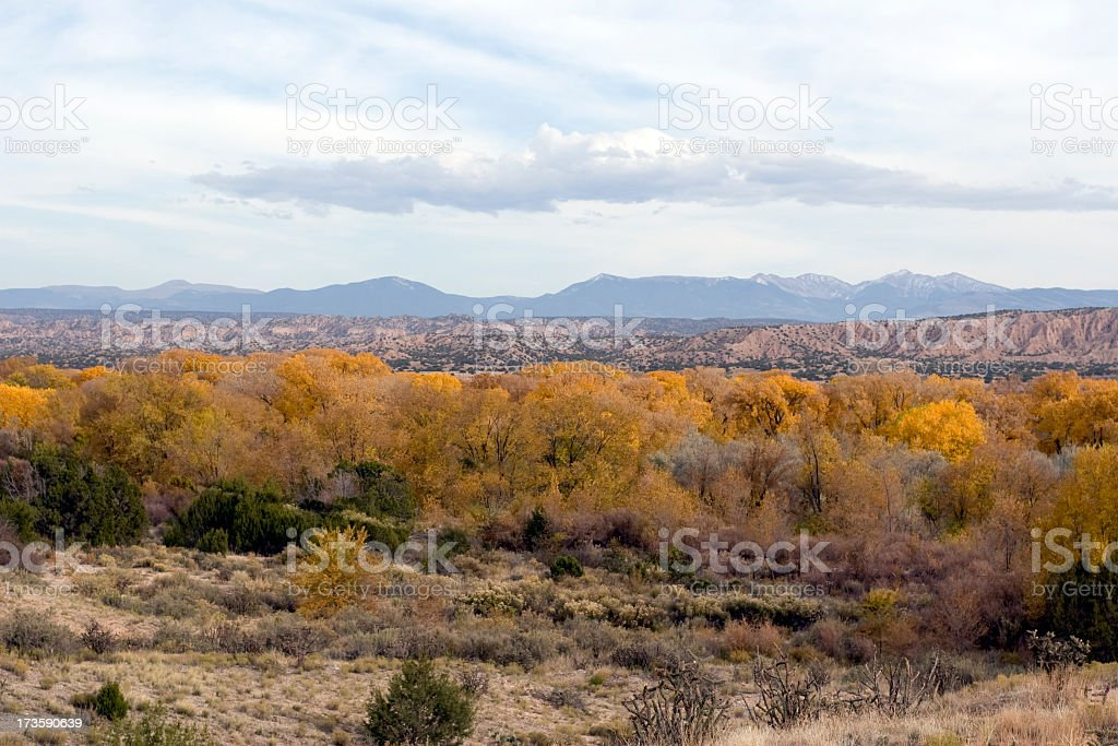 Rio Grande Valley in Autumn royalty-free stock photo