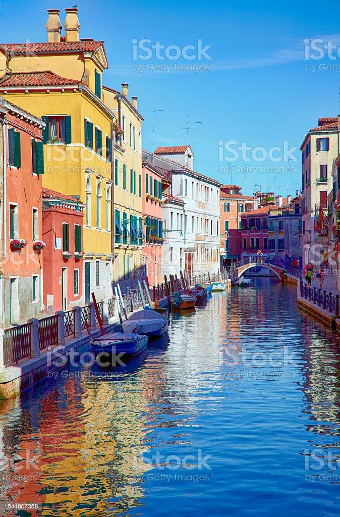 rio Marin in Cannaregio area, Venice, Italy stock photo