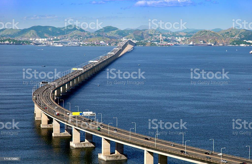 Rio Niteroi Bridge royalty-free stock photo