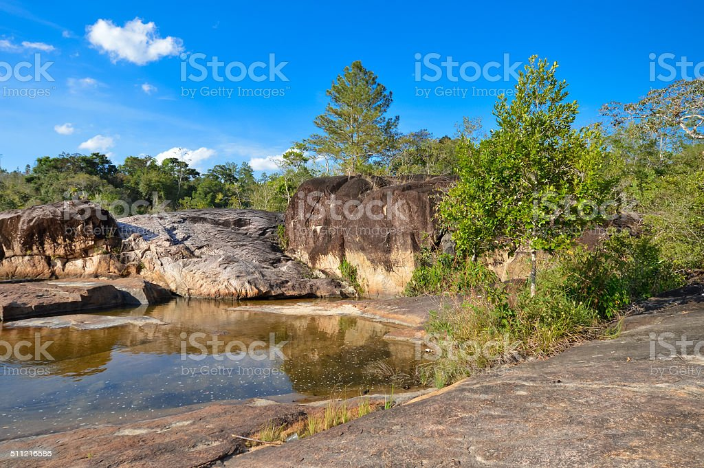 Rio on Pools in Mountain Pine Ridge Forest Reserve, Belize stock photo