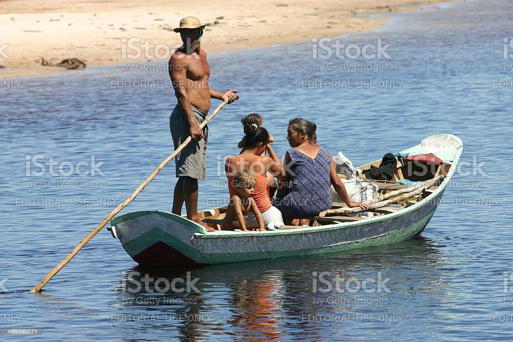 rio preguicas Brazil,Santo Amaro; Maranhao stock photo