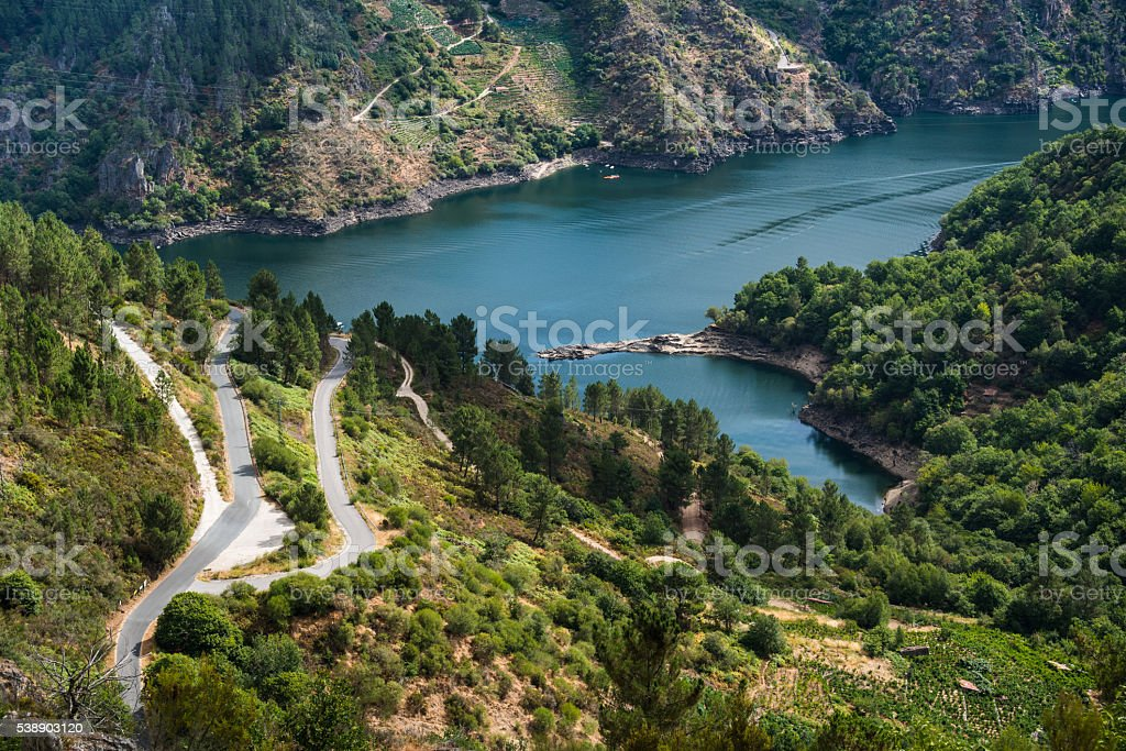 Rio Sil in Galicia, Spain stock photo