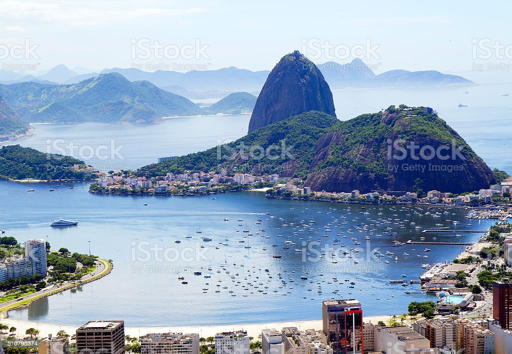 Rio. The view from Corcovado. stock photo