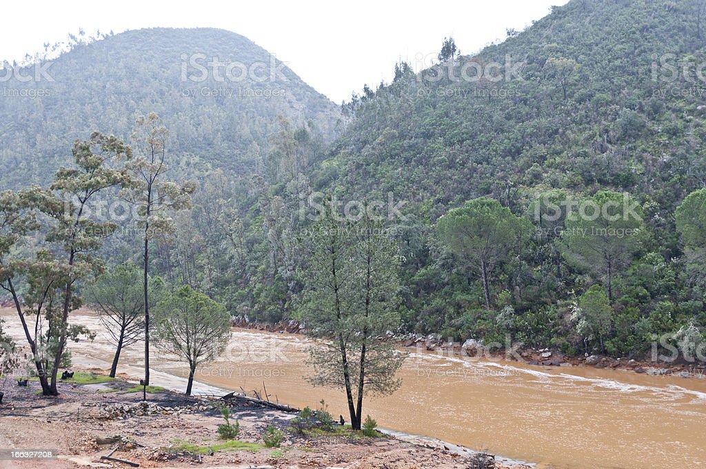Rio Tinto (red river) royalty-free stock photo