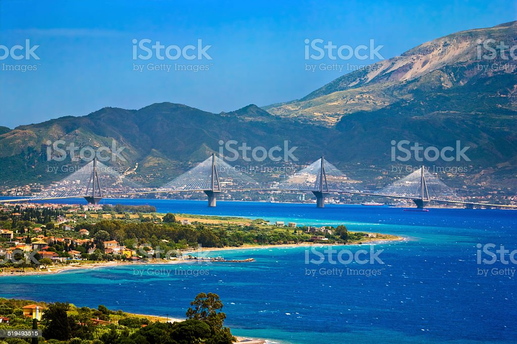 Rio-Antirrio Bridge stock photo