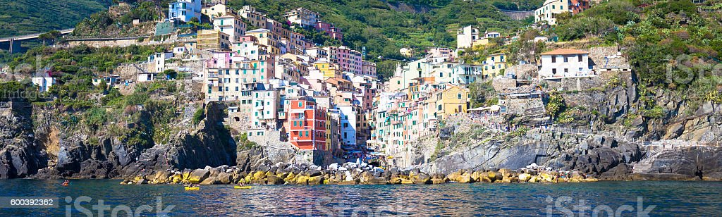 Riomaggiore in Cinque Terre, Italy stock photo