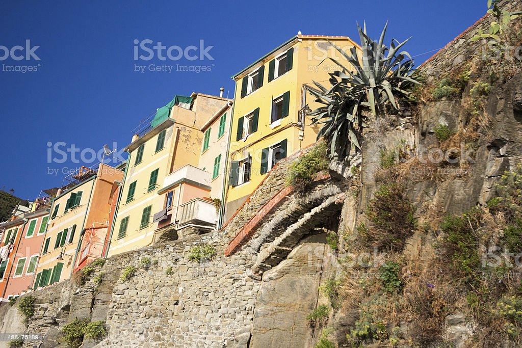 Riomaggiore in Liguria, Italy royalty-free stock photo