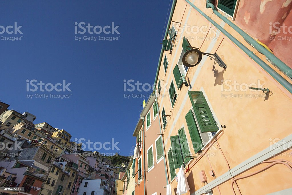 Riomaggiore in the Cinque Terre, Italy royalty-free stock photo