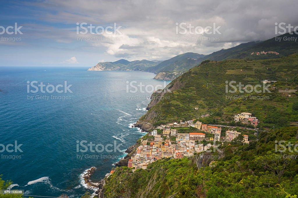 Riomaggiore (Cinque Terre) stock photo