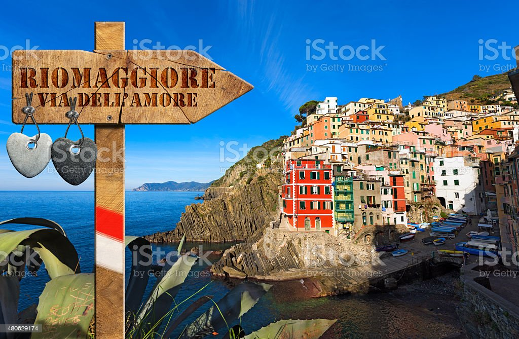 Riomaggiore - The Way of Love stock photo