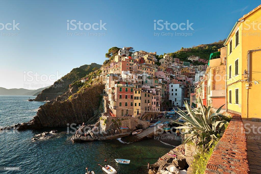 Riomaggiore town royalty-free stock photo