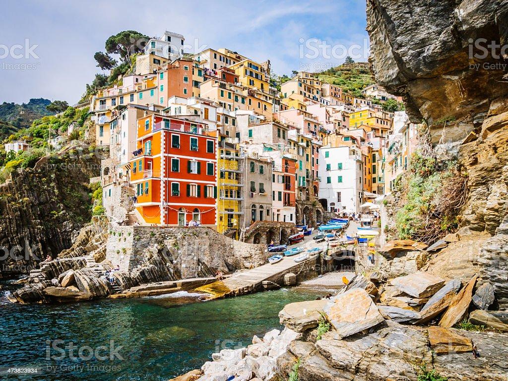Riomaggiore View - Cinque Terre, Italy stock photo