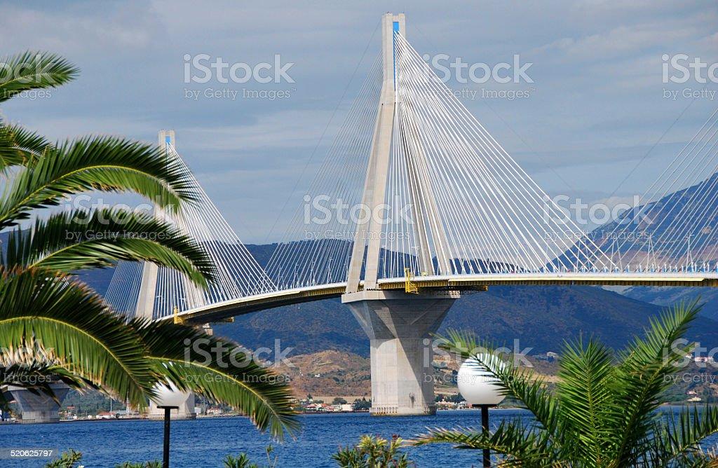 Rion-Antirion bridge, Patras, Greece stock photo