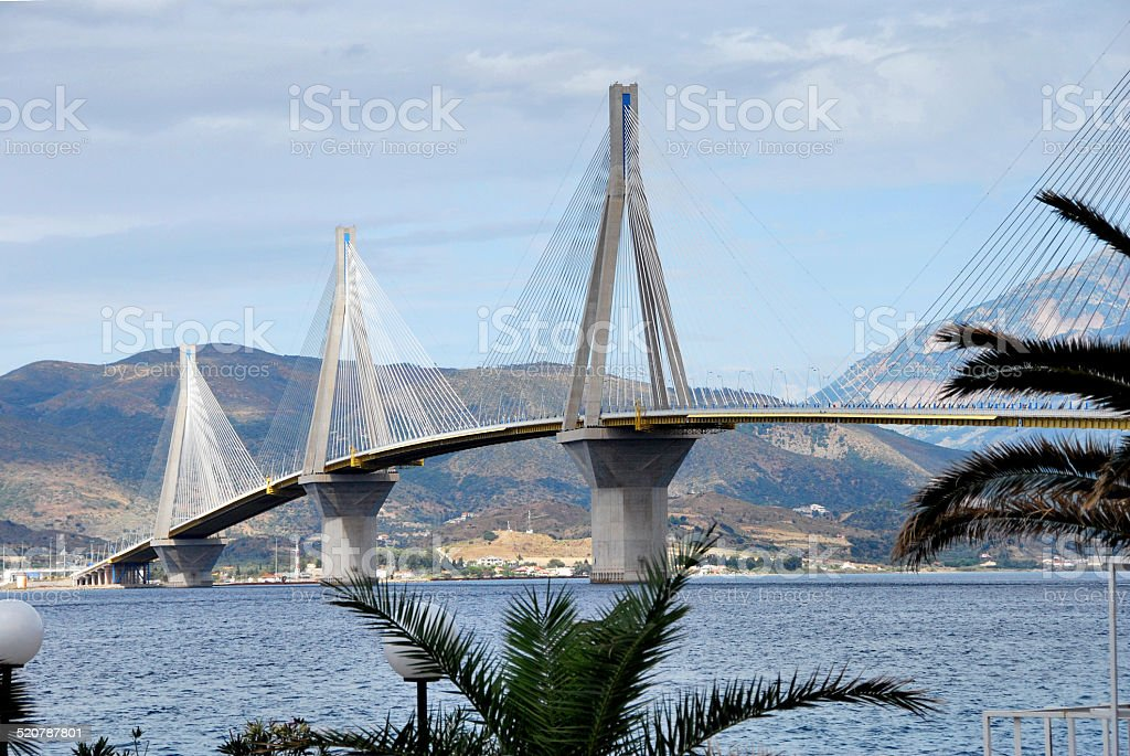 Rion-Antirion bridge, Patras, Greece stock photo
