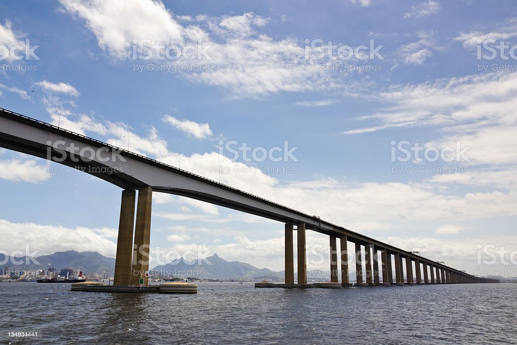 Rio-Niteroi bridge royalty-free stock photo